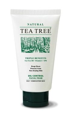 TEA Tree Natural Deep Clean Oil Control Facial Foam Vitamin E Prevent Acne 70g Product of Thailand . $29.00. TEA TREE  Facial Foam  (70g)  For Oily - Combination Skin  Triple Benefits  Tea Tree Oil - Vitamin E - EPO     Product Features  A scientifically researched formula, containing natural active ingredients that provide triple benefits: deeper cleansing, facial skin softening and moisture restoring.   - Extra mild formula to obtain a gentle and deep clean     - Natur...
