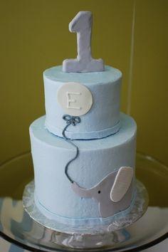 Elephant cake boys 1st birthday