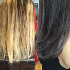 #balayage #balayageexpert #hairstyle  #haircolor #waves #ilovemyjob #welovehair #mustdo #winterhair #dark #grey  #amazing #happy