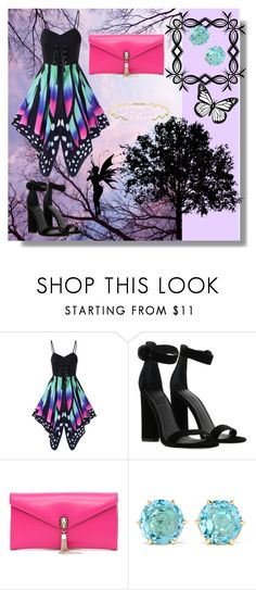 """""""butterfly pattern slip dress"""" by lady-cherries00 ❤ liked on Polyvore featuring Kendall + Kylie, Bulgari, Ippolita and Sabine Getty"""