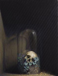 Agostino Arrivabene elogio della plvere 2013.  oil, human ashes , on wood cm 57,5 x 75,5 .
