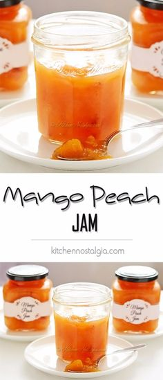 33 Homemade Jam and Jelly Recipes Best Jam and Jelly Recipes – Mango Peach Jam – Homemade Recipe Ideas For Canning – Easy and U Mango Recipes, Jelly Recipes, Peach Jam Recipes, Homemade Recipe, Fruit Jam, Fruit Preserves, Ripe Fruit, Canning Recipes, Sauces