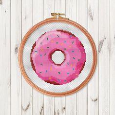 Donut Cross Stitch Pattern Cute Kitchen Easy Cross Stitch