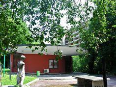 Il padiglione in via Pogatschnig (1951) al QT8 di Piero Bottoni. #Bottoni, #QT8, #Milano, #Architettura, #Itinerari.