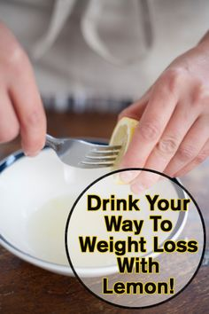 Drink your way to weight loss with Lemon!