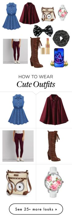 """Next date outfit"" by swood5602 on Polyvore featuring Chicnova Fashion, UNIONBAY, Samsung, American Eagle Outfitters, Yves Saint Laurent, Music Notes and Betsey Johnson"