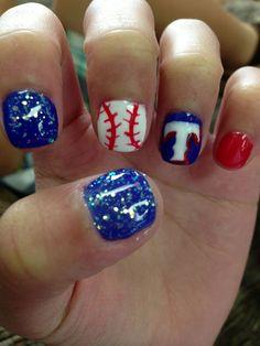 texas rangers baseball nails - Google Search