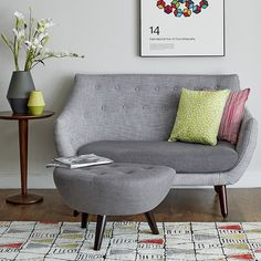 The Poet upholstery collection has been inspired by the Danish style. A comfortable, organically styled product created with traditional techniques and high quality materials. Love Seat, Upholstery, Contemporary Sofa, Danish Style, Living Space Decor, Sofa Offers, Home Decor, Footstool, Living Spaces