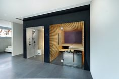 Welcome to Prestige Saunas, the exclusive UK supplier of Kung Saunas from Switzerland. Luxury Saunas & Steam room design & installation for home & commercial wellness. Bathroom Spa, Downstairs Bathroom, Bathroom Layout, Bathroom Interior Design, Sauna Steam Room, Steam Bath, Sauna Room, Basement Sauna, Basement House
