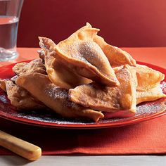 tortelli fritti alla frutta  (fried apple and pear tortelli)