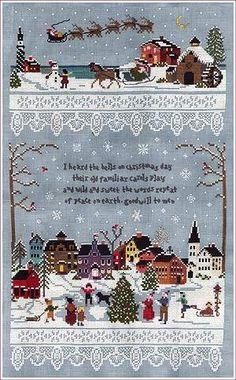 Christmas Village by Victoria Sampler - Cross Stitch Kits & Patterns