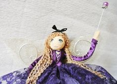 Handmade Fairy Godmother - fairy art doll - Gertie - can also be used as a tree topper