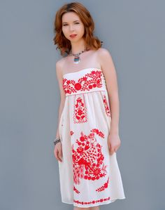 Bluseagal - White Red Short Dress, $76.00 (http://www.bluseagal.com/products/white-red-short-dress.html)