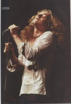 Robert Plant on stage at KB Hallen, Copenhagen, Denmark, February 1970.