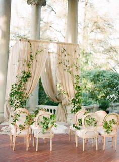 Use ivy to make your ceremony space extra dreamy