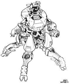 Mech Sketch from Rage