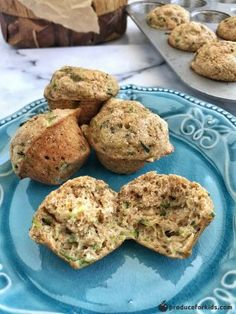 Mini Zucchini Bread Muffins are the perfect after-school snack. Made with whole wheat flour, applesauce rather than oil, and a veggie, they are a healthy snack any time of the day. They also freeze well and are the perfect grab-and-go snack. Healthy Muffin Recipes, Healthy Muffins, Healthy Snacks For Kids, Healthy Desserts, Healthy Foods, Zucchini Bread Muffins, Veggie Muffins, Zucchini Chips, Healthy Zucchini