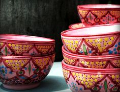 Pink Moroccan Bowls