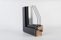 IV78-HA Climatrend Series  PERFIL de MADERA-ALUMINIO / Sección de hoja = 95,5 x 80 mm / Capacidad para el vidrio = 25 a 55 mm de espesor / Máximo aislamiento acústico Rw = NPD / Máximo aislamiento térmico Uw = 0,80 W/m²K / Máxima clasificación energética de la ventana = ORO