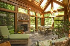 Inspiring pictures of room additions--sunrooms, family rooms, add-ons, and anything else just short of a full-blown house addition.: Room Addition: Sunroom or Conservatory? Four Seasons Room, Sunroom Addition, Family Room Addition, Home Addition Plans, Family Room Design, Family Rooms, Room Additions, Marquise, Types Of Houses