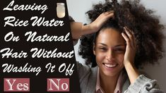 Leaving Rice Water On Natural Hair Without Washing! Black Girl Braids, Girls Braids, Water Treatment, African American Hairstyles, Hair Videos, Natural Hair Styles, Rice, Nature, Fashion