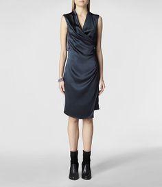 Womens Carina Dress | ALLSAINTS.com