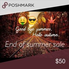 """All summer items are 50% off!! All summer items have a """"🍂"""" in title Other"""