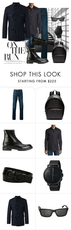 """On the Run"" by legoalibri on Polyvore featuring Tom Ford, Tod's, Alexander McQueen, Armani Collezioni, Salvatore Ferragamo, Skagen, Persol, men's fashion, menswear and black"