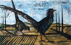 Bernard Buffet (France 1928-1999)Les Fasians - Pheasants (1961)oil on canvas 73 x 116 cm