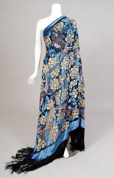 Shawl 1923, Made of silk and velvet