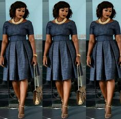 Look Jumoke Raji looks chic and style in her pleated dress Latest African Fashion Dresses, African Print Dresses, African Dresses For Women, African Print Fashion, African Wear, African Attire, African Women, Modest Fashion, Fashion Outfits