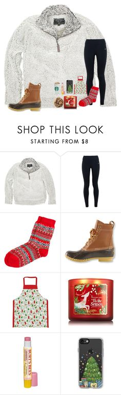 """""""Holiday baking (Day 6)"""" by mae343 ❤ liked on Polyvore featuring True Grit, NIKE, Vineyard Vines, L.L.Bean, Milly Green, Burt's Bees, Casetify and 30DaysOfChristmas2k16"""