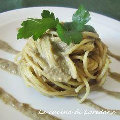 Spaghetti con pesto di carciofi