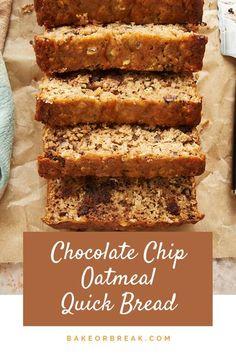 Chocolate Chip Bread, Chocolate Chip Oatmeal, Nutella Chocolate, Mint Chocolate, Quick Bread Recipes, Easy Bread, Cheesecake Recipes, Dessert Recipes, Pumpkin Cheesecake