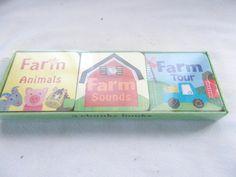 Gibson All Boy Little Chunky Book Set of 3 Jill McDonald Kids Farm Animals Sound