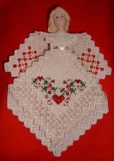 Hardanger Angel Christmas Ornament