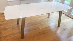 Single Extending White Gloss Dining Table