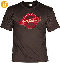 Geschenk T-Shirt zum 40.Geburtstag : 40 Jahre on Tour -- Goodman Design Geburtstag 40 Geschenk Gr: 3XL Farbe: braun - Shirts zum 40 geburtstag (*Partner-Link)