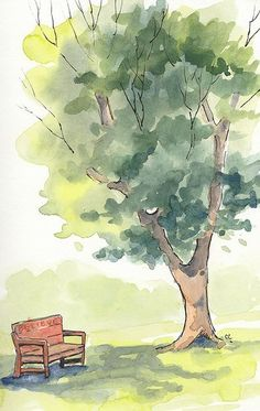 Rest Here Watercolor