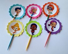 Bubble Guppies Cupcake Toppers by PartyXtras on Etsy, $4.25