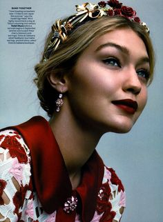 #GigiHadid by #GregoryHarris for #VogueUS July 2015