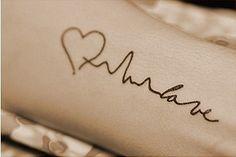 Tattoo~ Love Heartbeat