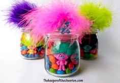 Trolls Party Favor Treat Jars - 10 Easy DIY Ideas for a Trolls Themed Birthday Party