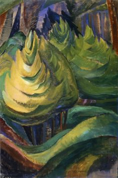 Formalized Tree, 1933. Emily Carr. Impressionist Paintings, Landscape Paintings, Landscapes, Emily Carr Paintings, Pole Art, Group Of Seven, Post Impressionism, Canadian Artists, French Art