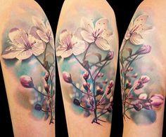 Realistic Flowers Tattoo by Gunnar V Tattoo | Tattoo No. 12849