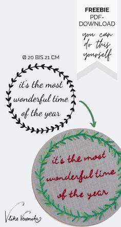 Lade Dir die acht Vorlagen als pdf herunter und leg gleich los.  #diy #weihnachten #sticken