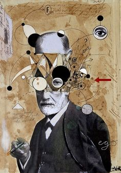 Freud with abstracted concepts by Loui  Jover
