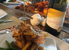 Sprucewood Shores Estate Winery 2018 Dry Riesling and Yorkshire Pudding with Cajun Fries & Gravy. Yorkshire Pudding Ingredients, Cajun Turkey, Oven Baked Fries, Cajun Fries, Divas Can Cook, Essex County, Complete Recipe, Wineries, Happy Thanksgiving