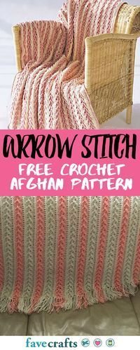 Check out one of our most popular free crochet afghan patterns. Learn the arrow stitch and how to crochet an afghan with one stunning project.