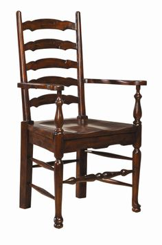 Ladderback Arm Chair w/ wood seat - Furniture Classics Ltd